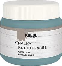 Kreul 75317 - Chalky Kreidefarbe, sanft - matte Farbe, cremig deckend, schnelltrocknend, für Effekte im Used Look, 150 ml Kunststoffdose, Sir Petrol