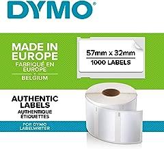 DYMO LW - Etiquetas Auténticas Multiusos, 57mm×32mm, Rollo de 1000Etiquetas con Reverso Fácil de Retirar, Autoadhesivas, para Rotuladoras LabelWriter