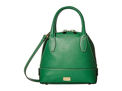 Frances Valentine Small Abby Tumbled Leather Dome Satchel (Green) Handbags