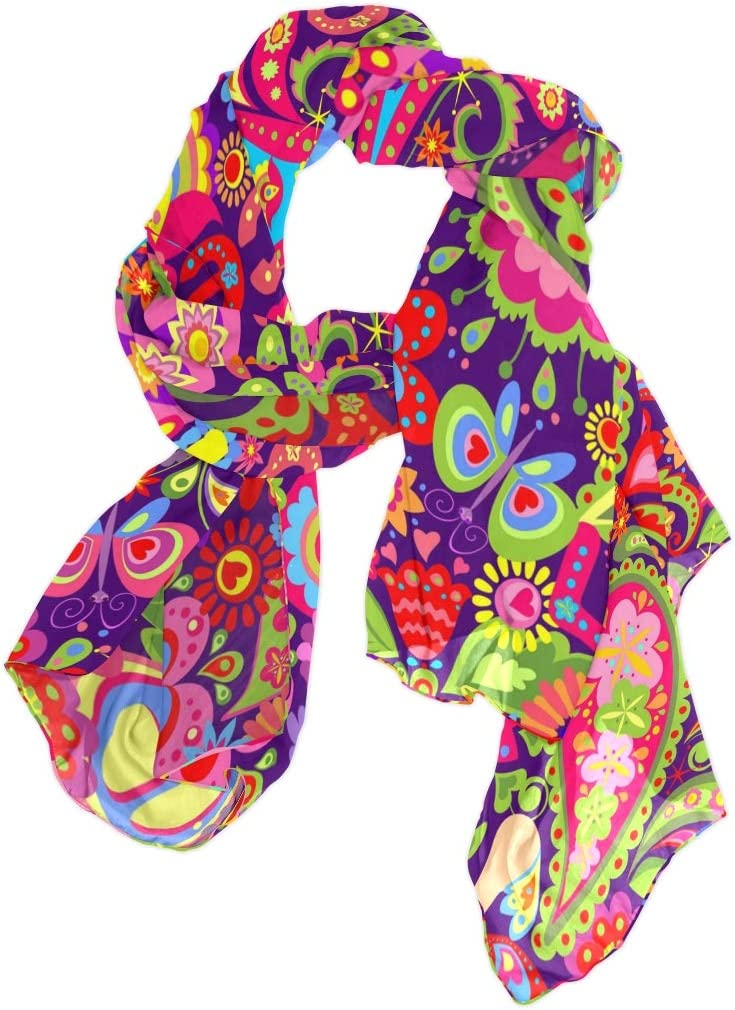 TropicalLife CFAUIRY Women Scarf Scarves Colorful Paisley Fashion Soft Lightweight Long Large Wrap Shawls