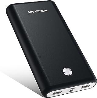 【2020改善版】モバイルバッテリー 20000mAh Poweradd Pilot X7 モバイル・バッテリー 大容量 PSE認証済 iPhone&Android対応 災害/旅行/アウトドア活動用に最適(ブラック+ホワイト)