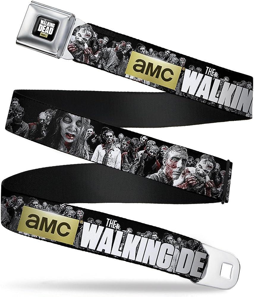 Buckle Down Boys' AMC-The Walking Dead Zombies2 Black/White Seatbelt Belt