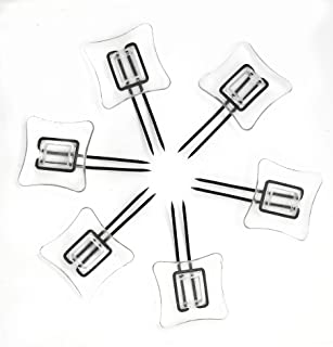 Wise Linkers Rug Settlers Rug Holders Pack of 6 Secure a Rug Over a Rug Anti Slip Pins for mats Runners Plastic Sheets and Throws