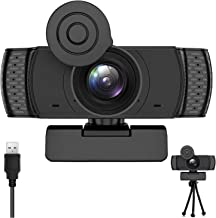 Webcam with Microphone, 1080P HD Streaming with Tripod USB Computer Webcam[Plug and Play] for PC Video Conferencing/Callin...