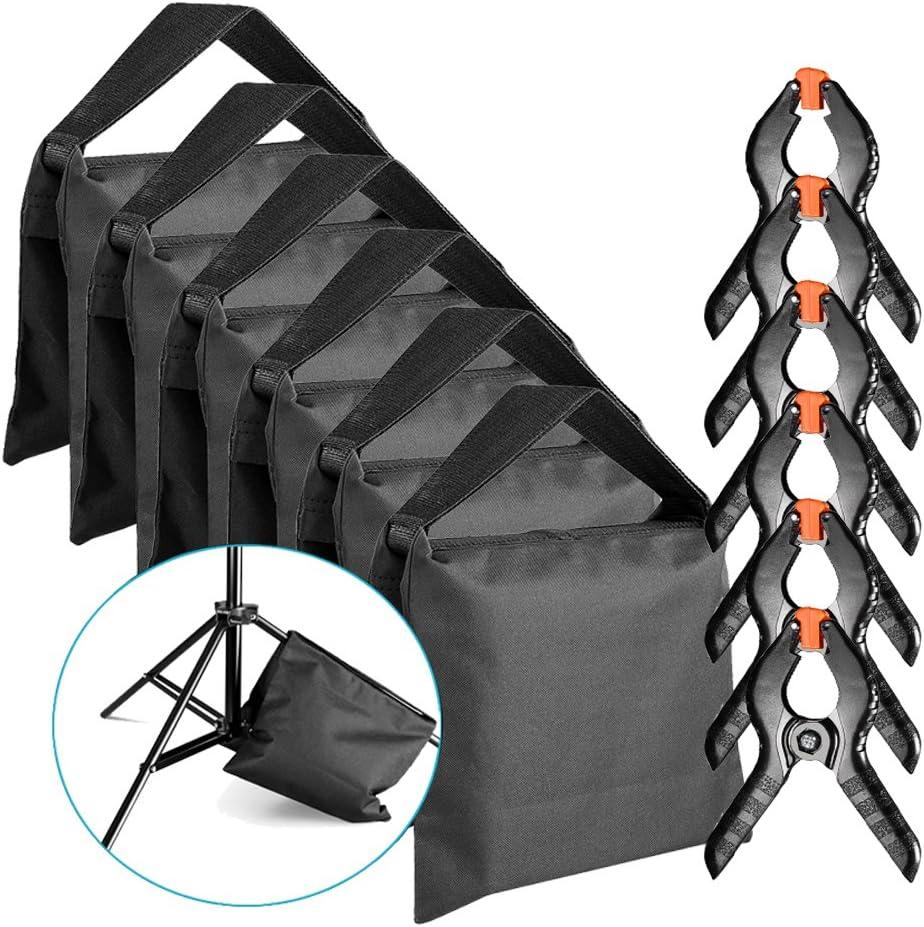 Neewer SEAL limited product 6-Pack Heavy Duty unisex Sandbag Black Light Photo for Studio
