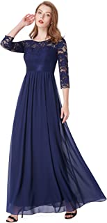 empire waist gown with sleeves