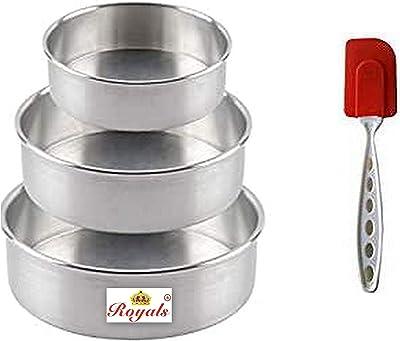 Royals Combo of Aluminium Cake Mould and Silicone Spatula - (Bidding Mould + Spatula)
