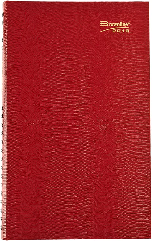 braunline 2016 coilpro Tägliche Amts Buch, rot, 34,3 x 20 cm (c551 C. rot-16) B00Z9WVNFU | Um Sowohl Die Qualität Der Zähigkeit Und Härte