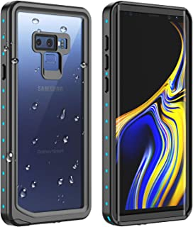 RedPepper Galaxy Note 9 Waterproof Case, Protective Clear Cover with Built-in Screen Protector, Support Wireless Charging IP68 Waterproof Shockproof Case for Samsung Galaxy Note 9 turquoise