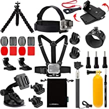 Luxebell Accessories Kit for AKASO EK5000 EK7000 4K WiFi Action Camera Gopro Hero 8 7 6 5/Session 5/Hero 4/3+/3/2/1 Max Fusion