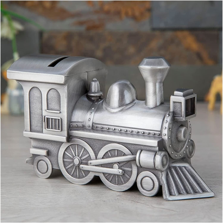 ZQDMBH Piggy Bank Vintage Metal Train Shape Coin Price reduction 5% OFF Car