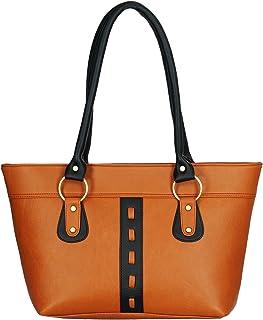 Fristo women handbag (FRB-032)(Tan and Black)