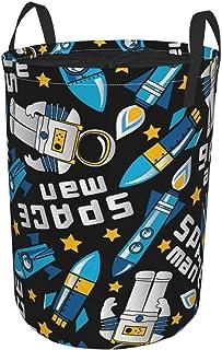 ZOMOY Grand Organiser Paniers pour Vêtements Stockage,Space Man et fusées dans l'espace,Panier à Linge en Tissu,Imperméabl...