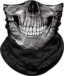 Face Mask for Sun Protection Men Women Motorcycle Half Face Mask for Dust Wind Seamless Bandana Fishing Hunting Running Workout Festival Rave Tube Mask Neck Gaiter Multifunctional UV Headwear