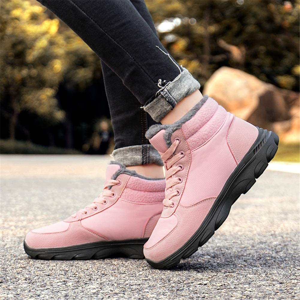 UBFEN Mens Womens Snow Boots Winter Warm Plush Booties Outdoor Sports Walking Hiking High Top Shoes