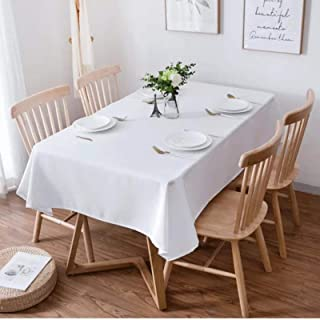 CAACXV White Tablecloth De Mesa Rectangular Tablecloths Coffee Table Cover For Living Room Wedding Event Party Decorate