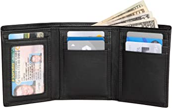 Extra Capacity Trifold Wallet for Men - RFID Blocking Genuine Leather Wallet
