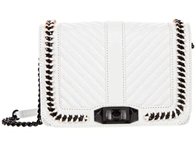 Rebecca Minkoff Chevron Quilted Small Love Crossbody with Chain Inset