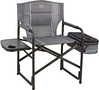 Timber Ridge Laurel Director's Chair with Cooler Bag & Side Table, Grey (Renewed)