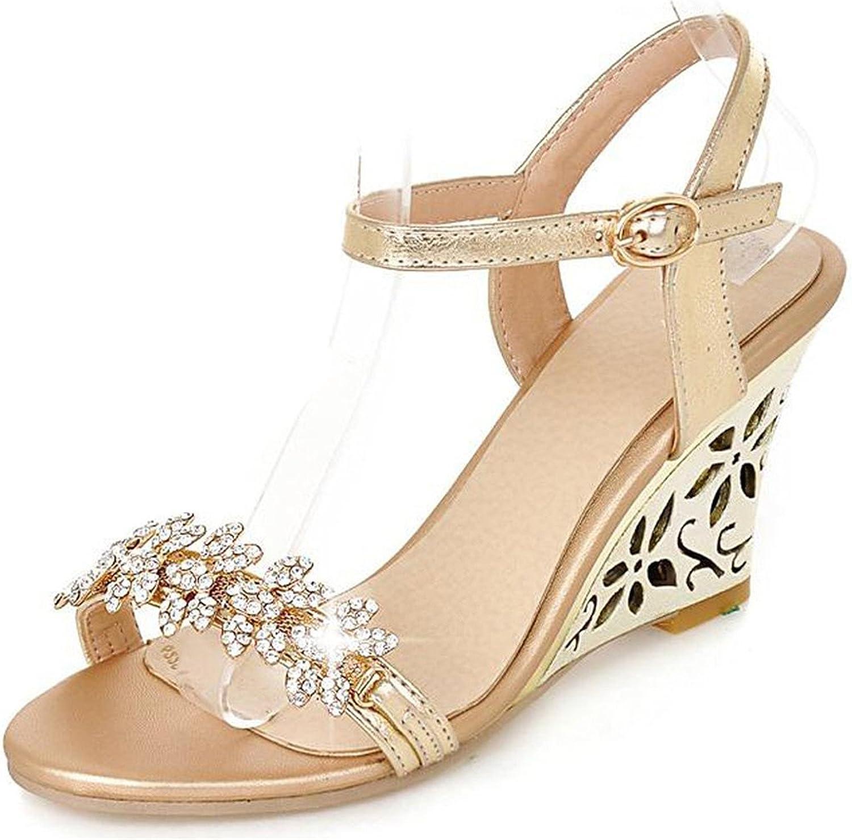 Reinhar Heeled Leather Sandal Strappy Summer Sandal Wedge Party Heels