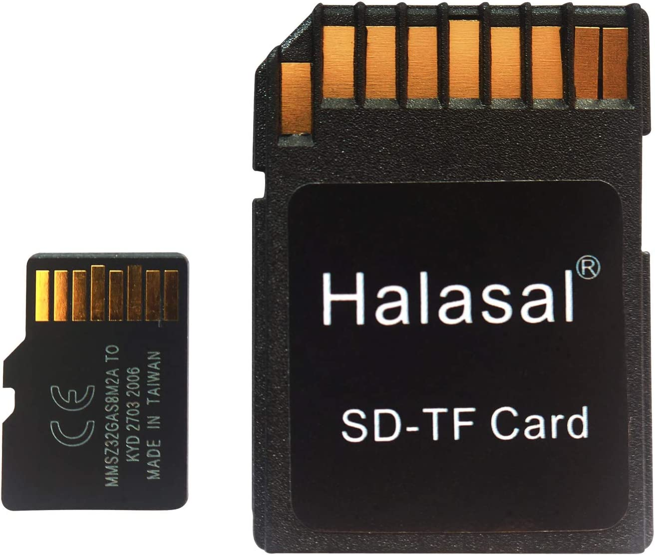 Halasal 128GB U1/U3/Class10/C10 TF Card SD Card Micro SD TF Card SDXC Flash Memory Card with Adapter for Smartphone/Bluetooth Speaker/PC/Camera/VR (128GB, 1Pack with Adapter)