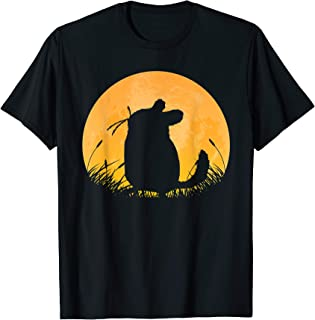 Chinchilla Easy Halloween Outfit Rodent Moon Costume Gift T-Shirt
