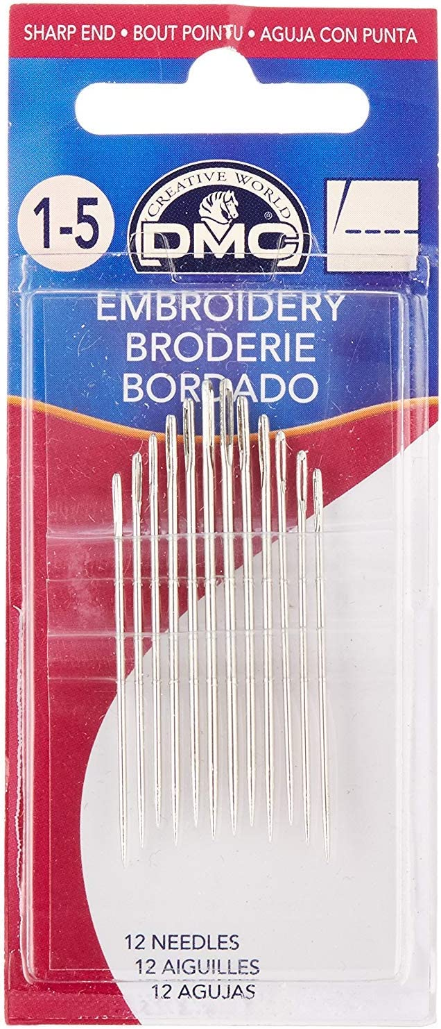 DMC llc 1765-1 5 Embroidery 12-Pack Size Needles Store unisex 1-5 Hand