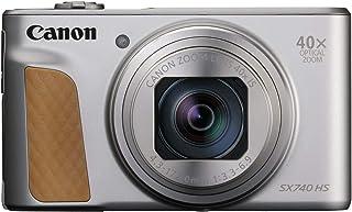 Canon Powershot SX740 HS - Cámara Compacta de 20.3 MP (40 x Zoom Óptico 4K UHD DIGIC 8 5 Ejes LCD Desplegable 10 fps Bluetooth WiFi) Plata 110.1 x 63.8 x 39.9 mm