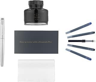 Parker Jotter 钢笔套装,不锈钢镀铬饰边,墨水瓶替换装,墨盒替换装,墨水瓶转换器