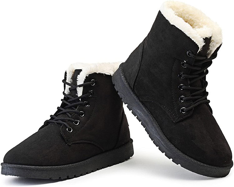 Dormery Women Boots Winter Warm Plush Women Winter Boots Fur Ankle Boots Women shoes Flock Fashion Lace Up