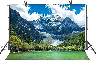 Fuermor LXFU235 Fotohintergrund, See, Bäume, Natur, Blau, Himmel, Reisen, Porträts, Kinder, Foto Requisiten