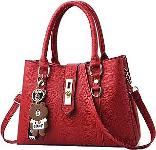 Amazon.es: Bolso de mano charol Rojo Bolsos para mujer