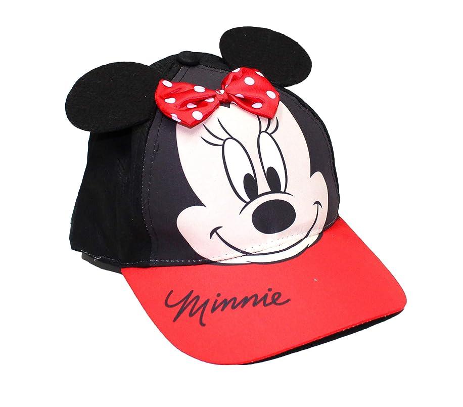 Disney Girls' Toddler Minnie Mouse Bowtique Cotton Baseball Cap, Red/Black Age 2-4