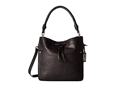 Frye Demi Hobo (Black Antique Soft Vintage) Hobo Handbags