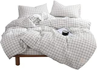 FanRen Dark Grey Bedding Set Luxury Cotton 3/4pcs Family Set Include Bed Sheet Duvet Cover Pillowcase Room Decoration Bedspread Soft,03,Queen,Flat Bed Sheet
