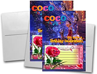 Crafting Mania LLC. 12 Coco Birthday Invitation Cards (12 White Envelops Included) #2