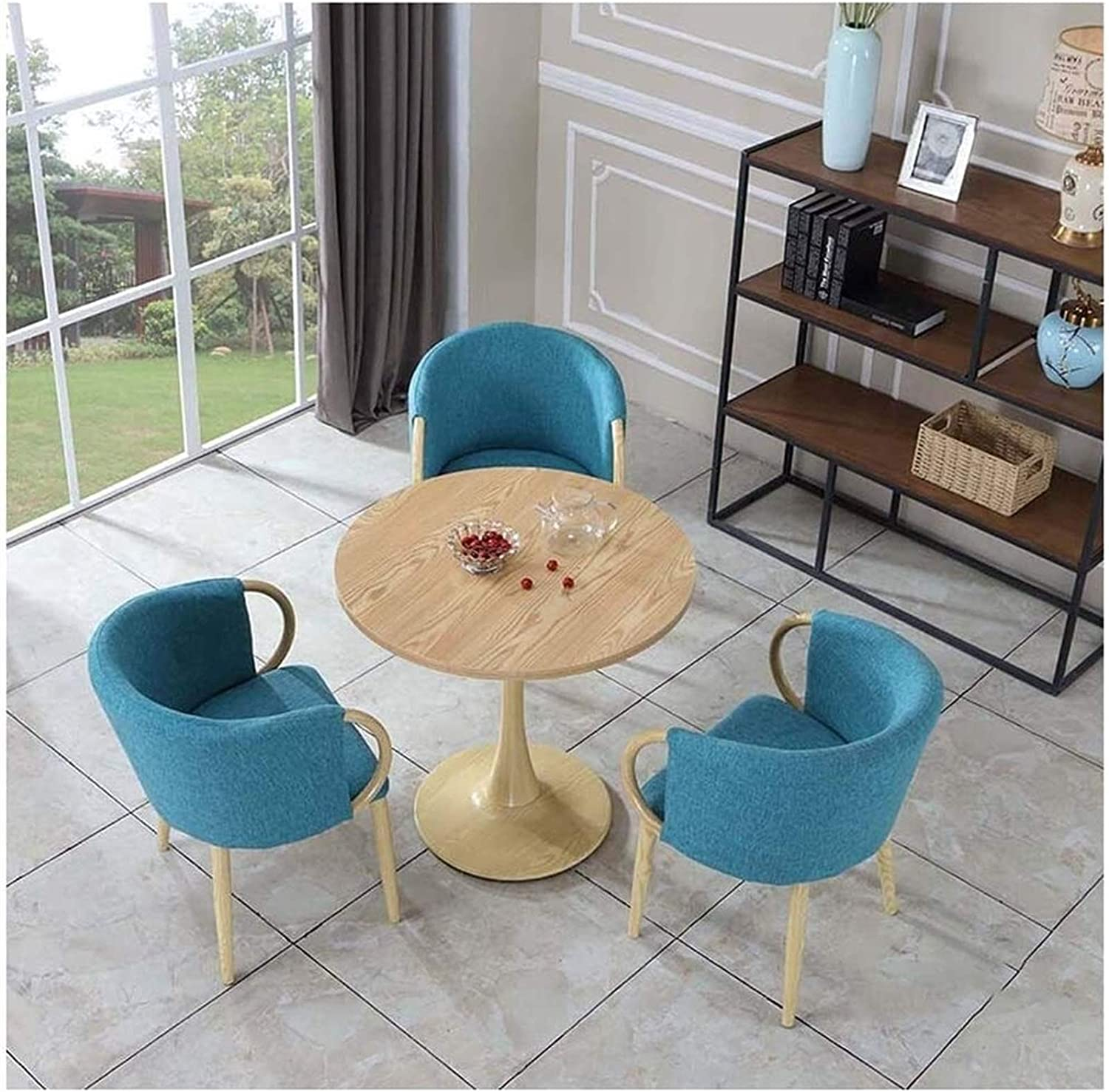 ZHANGXX Round Dining Table Max 76% OFF [Alternative dealer] and Set Nordic Chair Ta