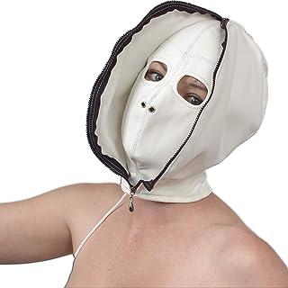 Zacht kunstlederen dubbel masker met ritssluiting en ogen