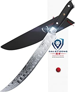 DALSTRONG Cuchillo Carnicero Hoja Curva - 25,4 cm - Shogun Series Slicer - Acero Japonés AUS-10V- Tratado al Vacío - Funda Incluida