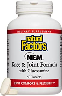 Natural Factors, NEM Knee & Joint Formula, Promotes Flexibility and Comfort with Glucosamine Sulfate and Hyaluronic Acid, ...