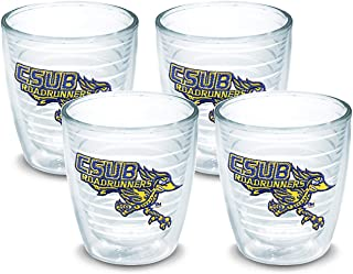 Tervis CSU Bakersfield Roadrunners Tumbler with Emblem 4 Pack 12oz, Clear