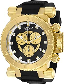 Invicta Men's Coalition Forces Stainless Steel Quartz Watch with Silicone Strap