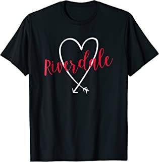 Riverdale NY Love Heart T-Shirt Handwriting Style