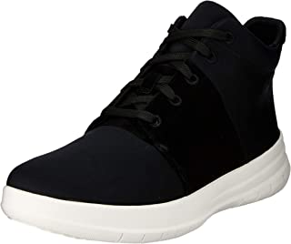 FitFlop Womens Sporty-Pop X High-Top Sneakers,Black,9