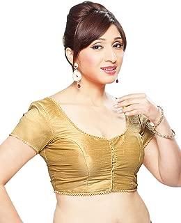 Dupian Silk Ready-made Indian Saree Blouse Choli - X-35 Gold