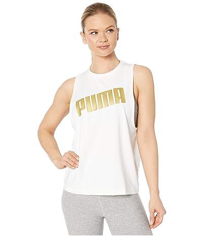 PUMA Metal Splash Adjustable Tank Top (PUMA White) Women