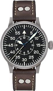 Montre d'aviateur originale Paderborn de Laco - Fabriquée en Allemagne - 42 mm de diamètre - Qualité unique - Finitions ex...