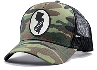 Homeland Tees Men's New Jersey Home State Army Camo Trucker Hat