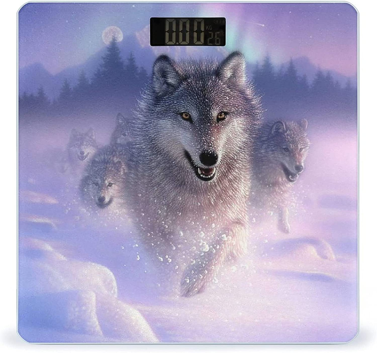 Wolf Running in Snow Highly Fitness Accurate Smart Scale NEW Weight Recommended