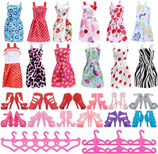 Asiv 36pcs Holiday Party Clothes Accessories for Doll...